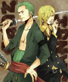 Zoro and Sanji of One Piece