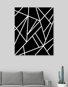 This numbered edition Canvas Print, designed by Anita's & Bella's Art, comes with a numbered and signed certificate of authenticity. Ready to hang, this image is printed onto a white… Black Canvas Art, Black Canvas Paintings, Easy Canvas Art, Black And White Canvas, Black And White Painting, Diy Canvas, Canvas Art Prints, Canvas Wall Art, 3 Canvas Painting Ideas