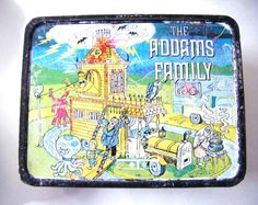 1974 Addams Family Metal Lunch Box HannaBarbera by parkledge, $150.00