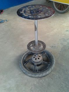 Stools,mAde from brake disc and wheel