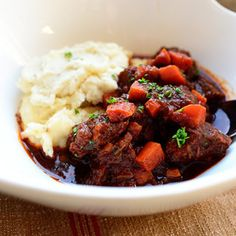 Yesterday was cold and windy and shivery and frigid, and to psychologically withstand such things, I made Sunday Night Stew and mashed potatoes for dinner. Now, Sunday Night Stew is very different ...