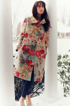Spring Floral Jacket with Leather Details. BUrda Style de 08/13