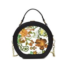 Yellow Flower Embroidery Chain Canteen Bag (190 GTQ) ❤ liked on Polyvore featuring bags, handbags, gamiss, chain purse, yellow handbags, yellow bag, white handbags and chain handbags