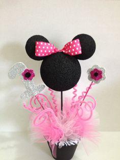 Minnie mouse centerpieces. $17.00, via Etsy.