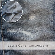 Schnell, einfach und günstig eine Jeans flicken.