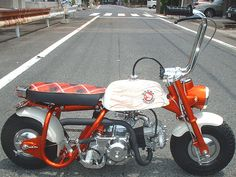 Honda Monkey bobber. #moped #oldschool