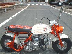 Honda Monkey bobber. #moped #oldschool