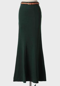 hunter green skirt $39