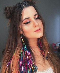 Super Ideas For Birthday Makeup Looks Halloween Costumes Festival Looks, Festival Party, Festival Outfits, Festival Fashion, Birthday Makeup Looks, Make Carnaval, Ariana Grande Fotos, Super Hair, Party Looks