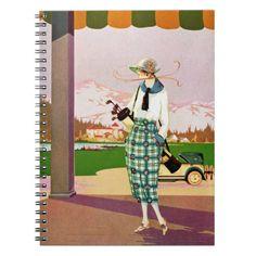 Fashionable Golf Attire Spiral Notebook