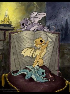 Baby dragons love learning how to grow up FIERCE! MistiqueStudio - I want a baby dragon on my shoulder! Fantasy Dragon, Dragon Art, Fantasy Art, Dragon Tales, Magical Creatures, Fantasy Creatures, Cute Dragons, Dragons Den, Dragon Pictures