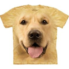 This cool t-shirt is amazingly realistic! The 'Big Face Dog T-Shirts Big Face Golden T-Shirt The Mountain' is designed special for you by the American brand The Mountain. The image the Golden Retriever is hand-dyed with special eco-friendly inks in the USA and won't fade even after many washes. This pseudo 3D t-shirt is made from durable 100% cotton and is comfortable to wear. You will surely get many compliments wearing this amazing tee. The Golden Retriever shirt is an excellent gift! Get…