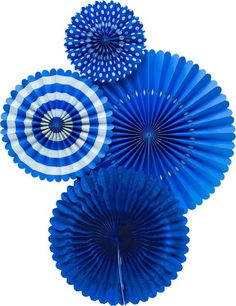 Items similar to Blue Party Fans - Party Paper Fans - Blue Party Decor - Paper Fan Backdrop - Blue Backdrop - Royal Blue Pinwheel Paper Rosettes Blue on Etsy Batman Party Supplies, Paper Medallions, Paper Fan Decorations, Paper Rosettes, Paper Fans, Giant Paper Flowers, Blue Party, Oriental Trading, A 17