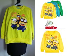 81034a105053 Aliexpress Ebay Haul Boy Girl Crewneck Fleece minion Children Outwear To.
