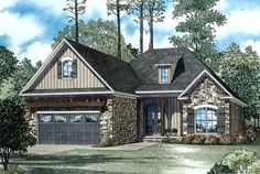 Country Front Elevation Plan #17-2483 - Houseplans.com