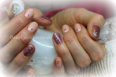 """Gelish """"Forever Beauty"""" with rockstar nails and gems"""