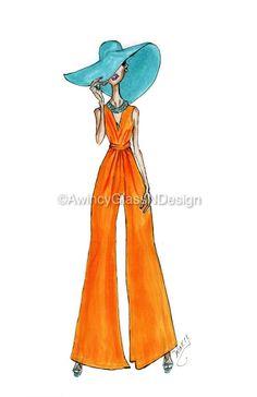 Summer Vibes Fashion Illustration Art Print