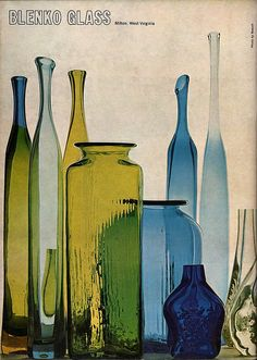 On the back cover of the March/April 1964 issue of Craft Horizons. Showing excellent examples of translucent objects - still life.