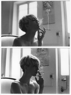 smoke, hair, black and white, photography