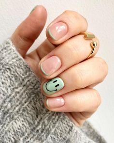 Solid Color Nails, Nail Colors, Cute Nails, Pretty Nails, Green Nail Designs, Disney Nails, Minimalist Nails, French Tip Nails, Best Acrylic Nails