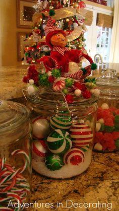 large jars filled