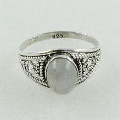 BACCHA DESIGN !! 925 STERLING SILVER JEWELRY RING IN RAINBOW MOON STONE #Handmade #Statement #AllOccasions