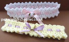 Free baby crochet pattern baby headband USA
