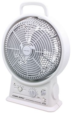 Battery Powered Rechargeable Fan  $89.99  If you live where there are power outages during the summer, this product is great, creates a cooling breeze and keeps you in touch.  Also great as part of an emergency kit for hurricanes, tornadoes, etc.