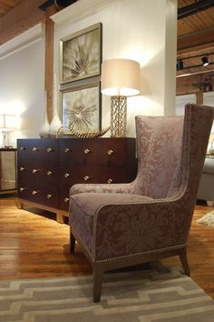 Gorgeous Embrace Chair by Candice Olson at Highland House Furniture... a new launch at market. #hpmkt #candiceolson #interiordesign #homedecor