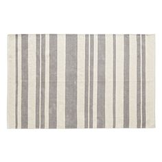 Shop Barcode Grey Rug.  The varying sized bars on this woven striped rug won't scan at checkout, but they will add a stylish touch to a kids bedroom, playroom or living room.