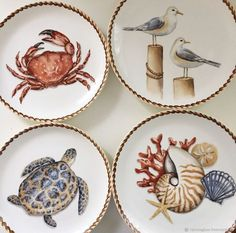 - Hobbies paining body for kids and adult Pottery Painting, Ceramic Painting, Ceramic Art, Fish Plate, Plate Art, Home Design Blogs, Pottery Handbuilding, Beach Cottage Decor, Plate Design
