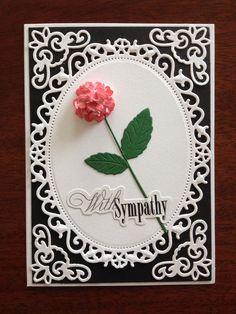 Sympathy card using Spellbinders dies