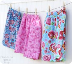 Free basic skirt pattern for girls in sizes 3 mos. to 12 years