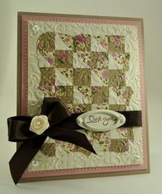 Quilted Cards.... by Jenna Barber - Cards and Paper Crafts at Splitcoaststampers
