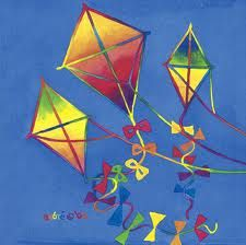 make kite for the front door adds whimsy when fabric tails are used!