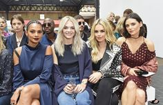 Don't Miss a Single Celebrity at London Fashion Week Day 3 Alesha Dixon, Louisa Johnson, Tallia Storm, and Lilah Parsons at Topshop Unique.