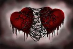 Broken Heart  --  My ripped heart fights against the pain in the heart