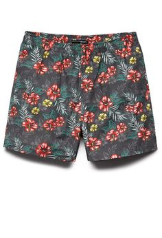 Aloha Print Swim Trunks   21 MEN  #F21Swim #21Men #Summer I thought these were for women and I wanted them (and I still want them!); too bad they would be humongous on me. :(