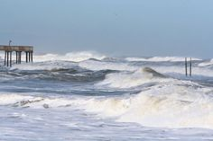 Remnant of a Hurricane Copyright Jeff Jones Rough ocean from Hurricane Noel that passed offshore of the Outer Banks heading north -