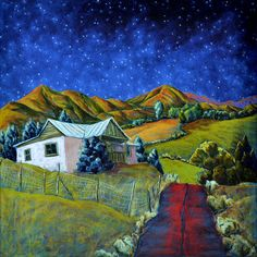 One of my favorite artists, Jennifer Cavan who captures the spirit of New Mexico.  I think of her work as a form of visual magical realism.
