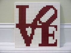 Hey, I found this really awesome Etsy listing at https://www.etsy.com/listing/213846983/philly-love-lego-mosaic-10x10