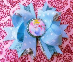 Cinderella Glam Boutique Hair Bow by Bowliciousdivas on Etsy, $9.00