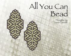 Peyote Earrings Pattern 108 Bead Weaving INSTANT DOWNLOAD PDF Odd Count