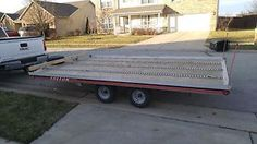 """1997 triton - Categoria: Avisos Clasificados Gratis Item Condition: UsedReady to go, Nice Triton Elite aluminum snowmobile or atv trailer 101"""" wide by 14' long plus 2' vnose Self storing ramp for drive onoff loadingEtrack tie down removable if requested for snowmobiles but works nicely for atvs, mowers or other toys I do have at least 2 ski tie downs maybe 3 Will haul 3 sleds, or up to 4 atvs Trailer has been completely refurbished after someone was kind enough to steal the wheels and hubs…"""