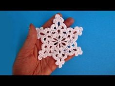 this is the tutorial i used for some of the snowflakes i made last year. How to crochet snowflake - Снежинка - Pattern for free - Вязание крючком Crochet Snowflake Pattern, Crochet Stars, Christmas Crochet Patterns, Crochet Snowflakes, Christmas Knitting, Crochet Motif, Crochet Designs, Crochet Doilies, Easy Crochet