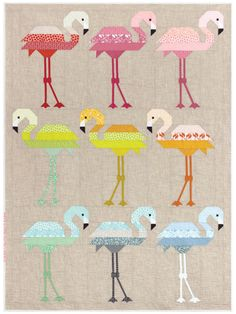 Florence Flamingo Quilt pattern from Annie's Craft Store. Order here: https://www.anniescatalog.com/detail.html?prod_id=135594&cat_id=1644