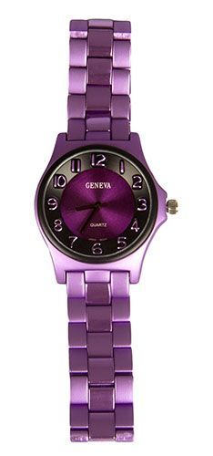 Unisex Metal Purple Watch