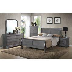 Louis Phillip Queen Sleigh Customizable Bedroom Set - http://delanico.com/bedroom-sets/louis-phillip-queen-sleigh-customizable-bedroom-set-588847050/