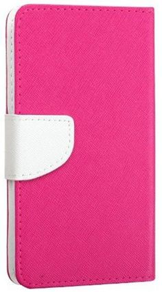 myLife Hollywood Pink + Brilliant White {Modern Design} Faux Leather (Multipurpose - Card, Cash and ID Holder + Magnetic Closing) Folio Slim...