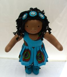 Takalani- 14 inch Waldorf girl doll